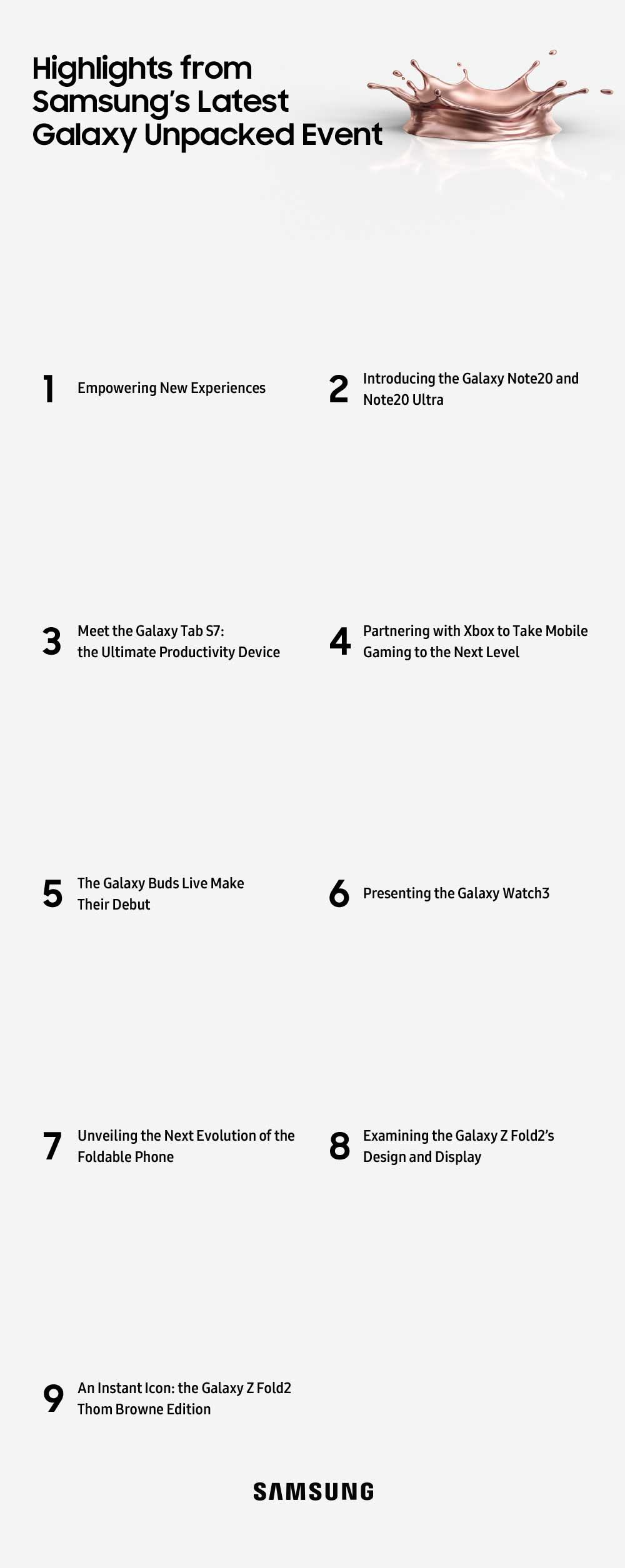 Aspectos destacados del último evento Galaxy Unpacked de Samsung